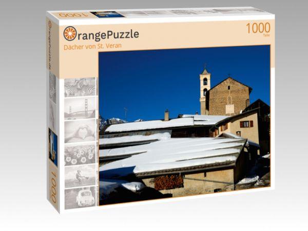 """Puzzle Motiv """"Dächer von St. Veran"""" - Puzzle-Schachtel zu 1000 Teile Puzzle"""