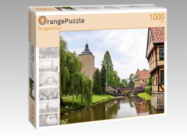 """Puzzle Motiv """"Burgsteinfurt"""" - Puzzle-Schachtel zu 1000 Teile Puzzle"""