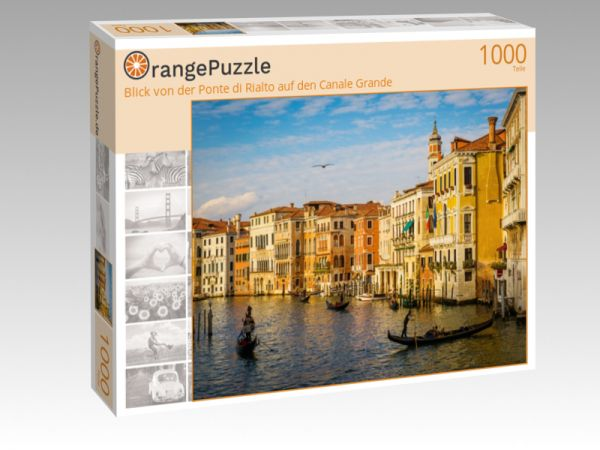 "Puzzle Motiv ""Blick von der Ponte di Rialto auf den Canale Grande"" - Puzzle-Schachtel zu 1000 Teile Puzzle"