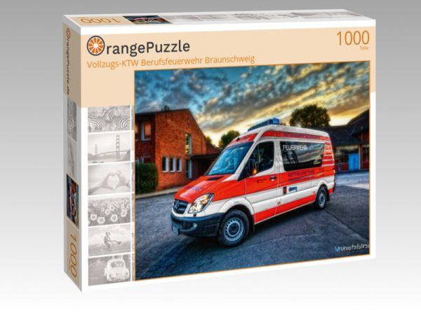 """Puzzle Motiv """"Vollzugs-KTW Berufsfeuerwehr Braunschweig"""" - Puzzle-Schachtel zu 1000 Teile Puzzle"""