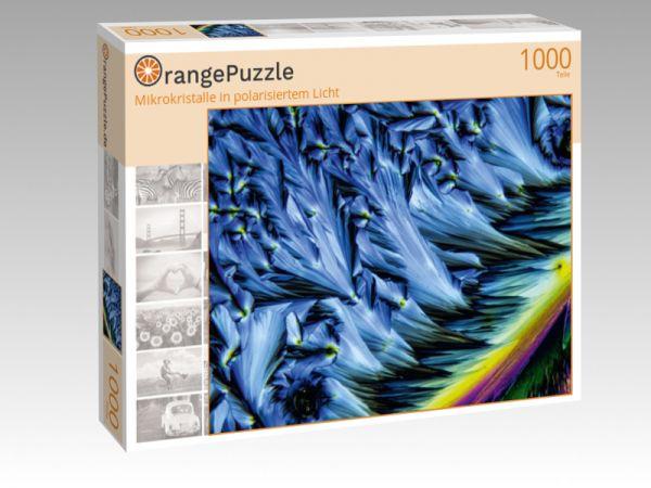 """Puzzle Motiv """"Mikrokristalle in polarisiertem Licht"""" - Puzzle-Schachtel zu 1000 Teile Puzzle"""