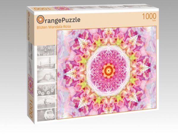 """Puzzle Motiv """"Blüten Mandala Rosa"""" - Puzzle-Schachtel zu 1000 Teile Puzzle"""