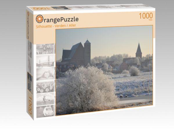 """Puzzle Motiv """"Silhouette - Verden / Aller"""" - Puzzle-Schachtel zu 1000 Teile Puzzle"""