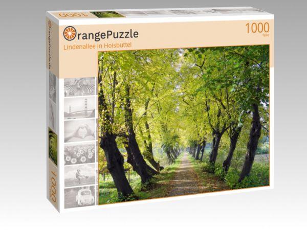 """Puzzle Motiv """"Lindenallee in Hoisbüttel"""" - Puzzle-Schachtel zu 1000 Teile Puzzle"""