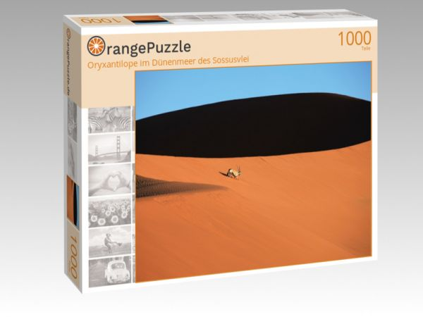 """Puzzle Motiv """"Oryxantilope im Dünenmeer des Sossusvlei"""" - Puzzle-Schachtel zu 1000 Teile Puzzle"""