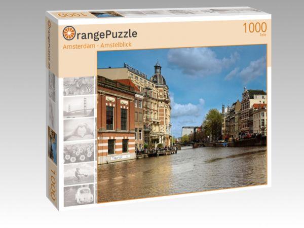 """Puzzle Motiv """"Amsterdam - Amstelblick"""" - Puzzle-Schachtel zu 1000 Teile Puzzle"""