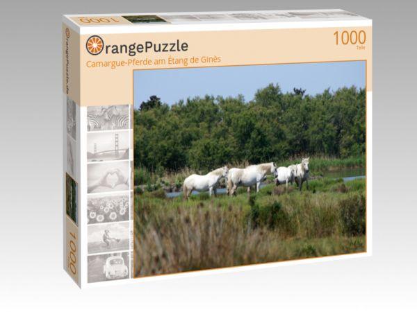 """Puzzle Motiv """"Camargue-Pferde am Étang de Ginès"""" - Puzzle-Schachtel zu 1000 Teile Puzzle"""