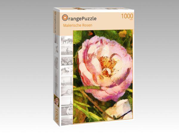 """Puzzle Motiv """"Malerische Rosen"""" - Puzzle-Schachtel zu 1000 Teile Puzzle"""