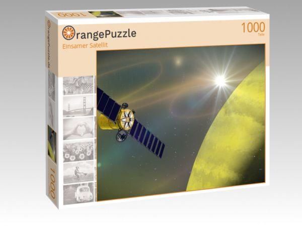 """Puzzle Motiv """"Einsamer Satellit"""" - Puzzle-Schachtel zu 1000 Teile Puzzle"""