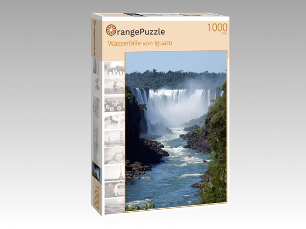 """Puzzle Motiv """"Wasserfälle von Iguazu"""" - Puzzle-Schachtel zu 1000 Teile Puzzle"""