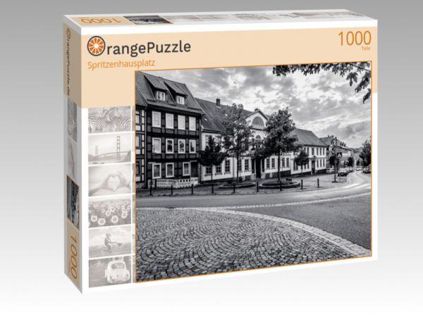 """Puzzle Motiv """"Spritzenhausplatz"""" - Puzzle-Schachtel zu 1000 Teile Puzzle"""