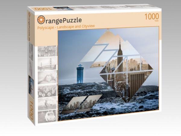 """Puzzle Motiv """"Polyscape - Landscape and Cityview"""" - Puzzle-Schachtel zu 1000 Teile Puzzle"""