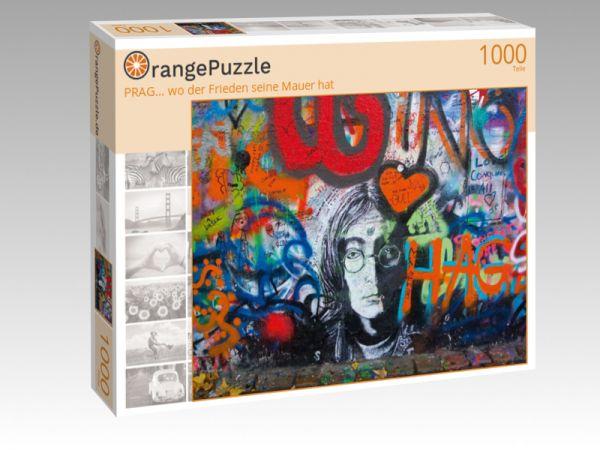 """Puzzle Motiv """"PRAG… wo der Frieden seine Mauer hat"""" - Puzzle-Schachtel zu 1000 Teile Puzzle"""