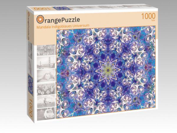 """Puzzle Motiv """"Mandala Indigoblaues Universum"""" - Puzzle-Schachtel zu 1000 Teile Puzzle"""