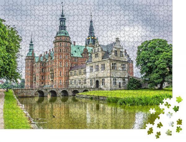 """Puzzle-Motiv """"Außenansicht von Schloss Frederiksborg (Frederiksborg Slot"""" - Puzzle-Schachtel zu 1000 Teile Puzzle"""