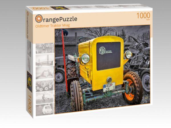 """Puzzle Motiv """"Oldtimer Traktor Miag"""" - Puzzle-Schachtel zu 1000 Teile Puzzle"""