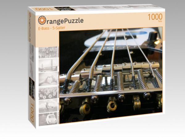 """Puzzle Motiv """"E-Bass - 5-Saiter"""" - Puzzle-Schachtel zu 1000 Teile Puzzle"""