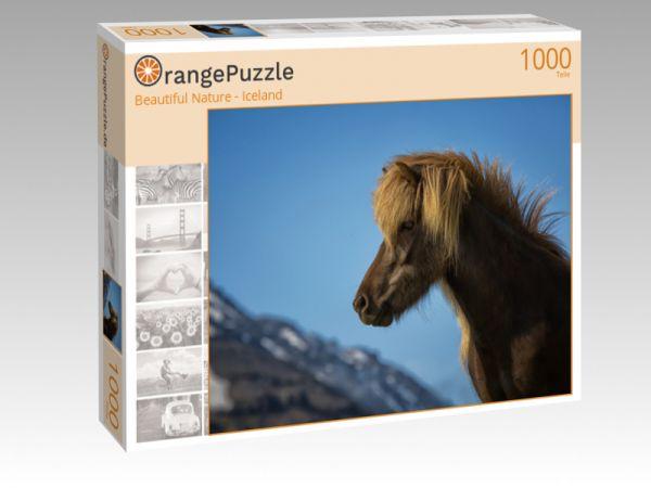 """Puzzle Motiv """"Beautiful Nature - Iceland"""" - Puzzle-Schachtel zu 1000 Teile Puzzle"""