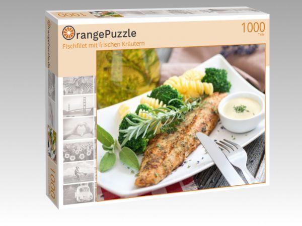 """Puzzle Motiv """"Fischfilet mit frischen Kräutern"""" - Puzzle-Schachtel zu 1000 Teile Puzzle"""