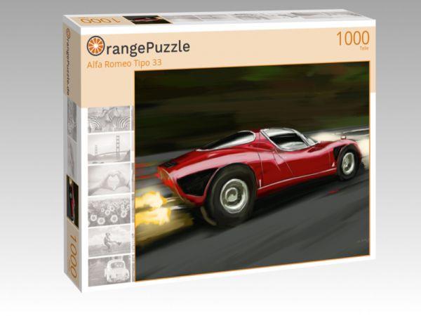 "Puzzle Motiv ""Alfa Romeo Tipo 33"" - Puzzle-Schachtel zu 1000 Teile Puzzle"