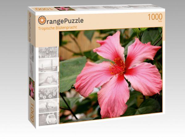 "Puzzle Motiv ""Tropische Blütenpracht"" - Puzzle-Schachtel zu 1000 Teile Puzzle"
