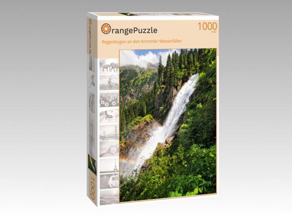 """Puzzle Motiv """"Regenbogen an den Krimmler Wasserfällen"""" - Puzzle-Schachtel zu 1000 Teile Puzzle"""