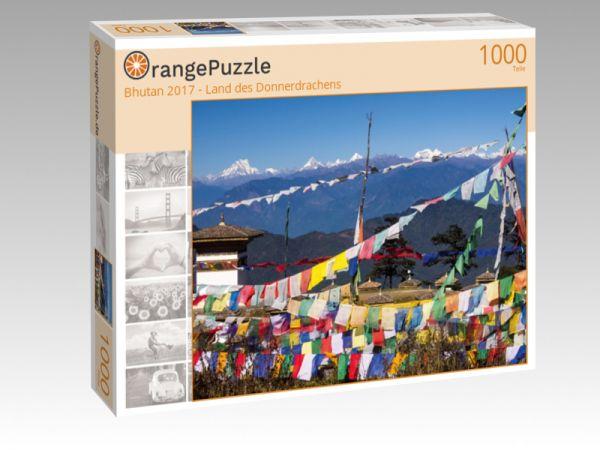 """Puzzle Motiv """"Bhutan 2017 - Land des Donnerdrachens"""" - Puzzle-Schachtel zu 1000 Teile Puzzle"""