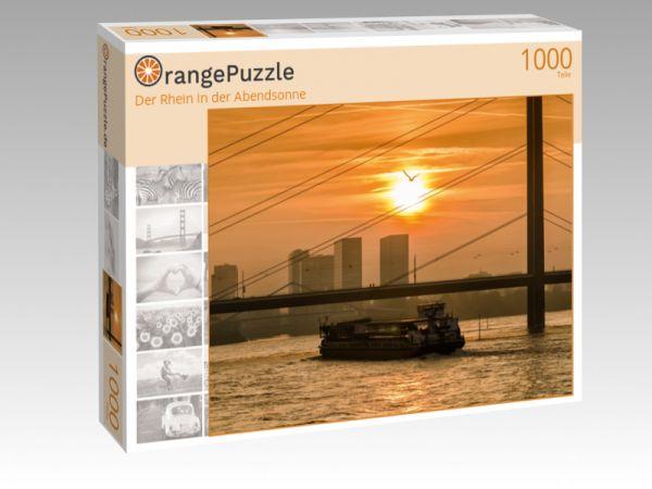 """Puzzle Motiv """"Der Rhein in der Abendsonne"""" - Puzzle-Schachtel zu 1000 Teile Puzzle"""