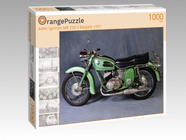 "Puzzle Motiv ""Adler Sprinter MB 250 S Baujahr 1957"" - Puzzle-Schachtel zu 1000 Teile Puzzle"