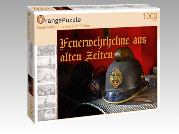 """Puzzle Motiv """"Feuerwehrhelme aus alten Zeiten"""" - Puzzle-Schachtel zu 1000 Teile Puzzle"""