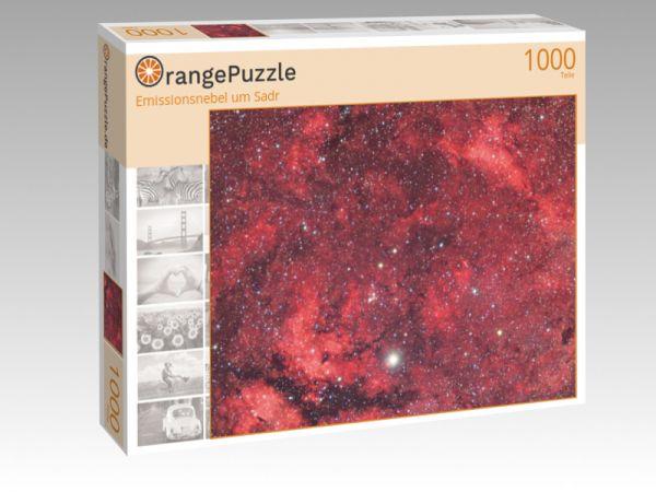 """Puzzle Motiv """"Emissionsnebel um Sadr"""" - Puzzle-Schachtel zu 1000 Teile Puzzle"""