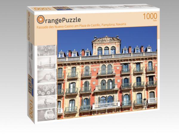 "Puzzle Motiv ""Fassade des Nuevo Casino am Plaza de Castillo, Pamplona, Navarra"" - Puzzle-Schachtel zu 1000 Teile Puzzle"