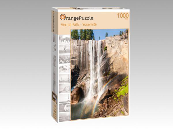 """Puzzle Motiv """"Vernal Falls - Yosemite"""" - Puzzle-Schachtel zu 1000 Teile Puzzle"""