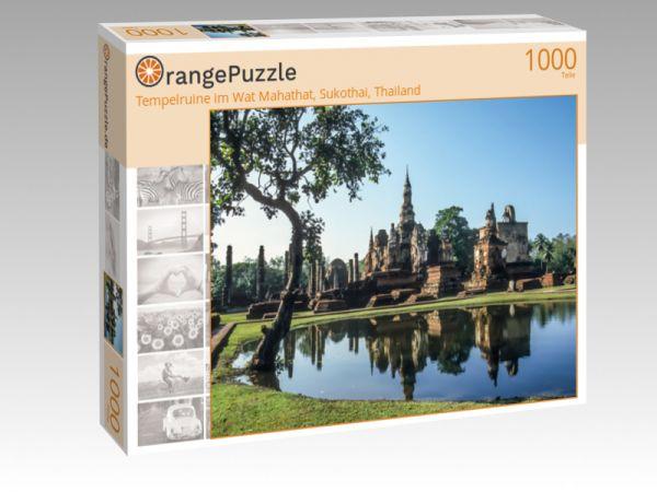 "Puzzle Motiv ""Tempelruine im Wat Mahathat, Sukothai, Thailand"" - Puzzle-Schachtel zu 1000 Teile Puzzle"