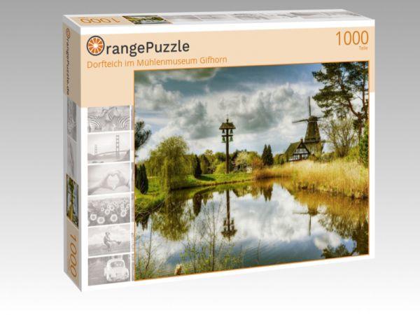 """Puzzle Motiv """"Dorfteich im Mühlenmuseum Gifhorn"""" - Puzzle-Schachtel zu 1000 Teile Puzzle"""