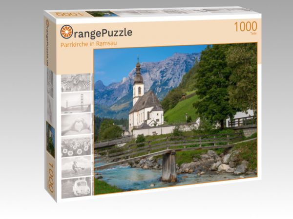 "Puzzle Motiv ""Parrkirche in Ramsau"" - Puzzle-Schachtel zu 1000 Teile Puzzle"
