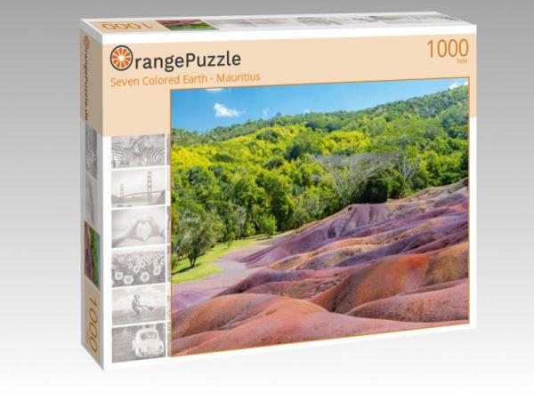 """Puzzle Motiv """"Seven Colored Earth - Mauritius"""" - Puzzle-Schachtel zu 1000 Teile Puzzle"""