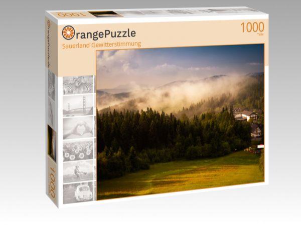 """Puzzle Motiv """"Sauerland Gewitterstimmung"""" - Puzzle-Schachtel zu 1000 Teile Puzzle"""