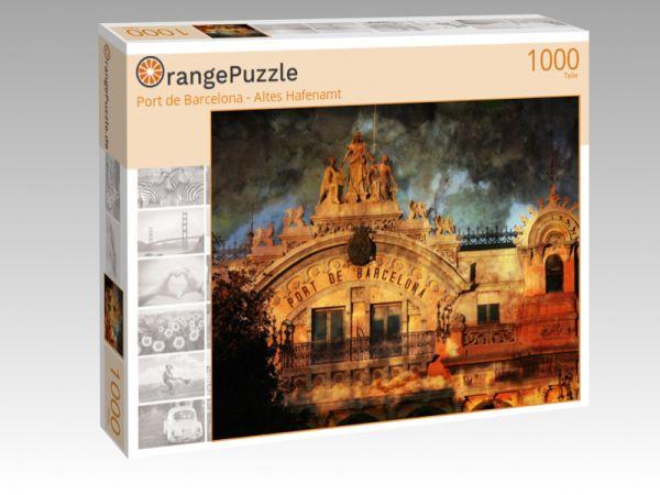 """Puzzle Motiv """"Port de Barcelona - Altes Hafenamt"""" - Puzzle-Schachtel zu 1000 Teile Puzzle"""
