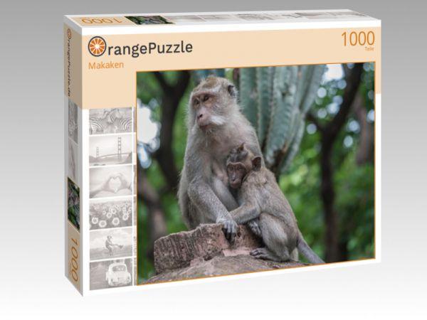 "Puzzle Motiv ""Makaken"" - Puzzle-Schachtel zu 1000 Teile Puzzle"
