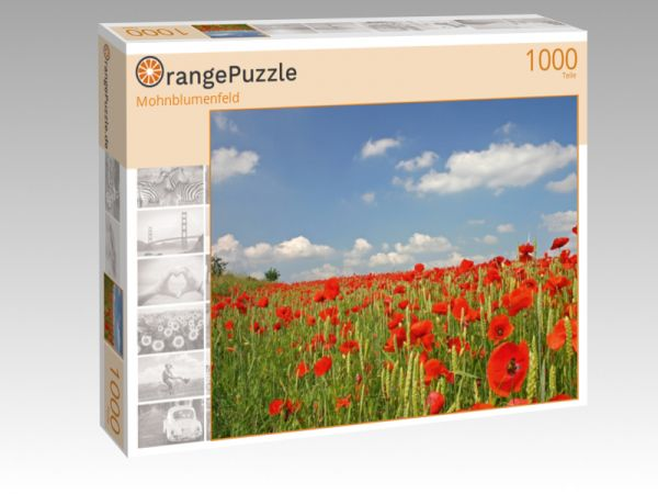 """Puzzle Motiv """"Mohnblumenfeld"""" - Puzzle-Schachtel zu 1000 Teile Puzzle"""