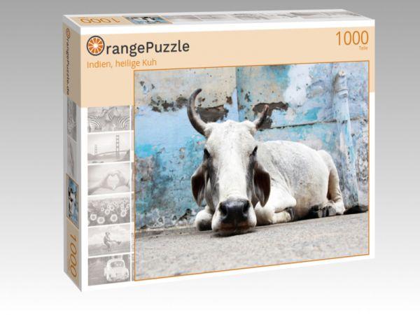 """Puzzle Motiv """"Indien, heilige Kuh"""" - Puzzle-Schachtel zu 1000 Teile Puzzle"""