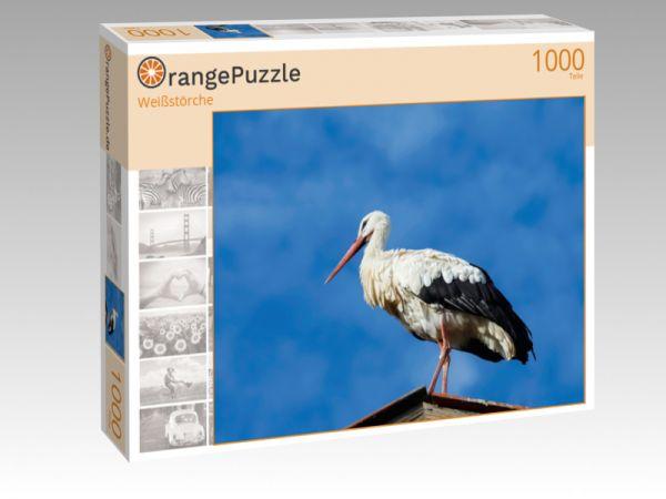 """Puzzle Motiv """"Weißstörche"""" - Puzzle-Schachtel zu 1000 Teile Puzzle"""