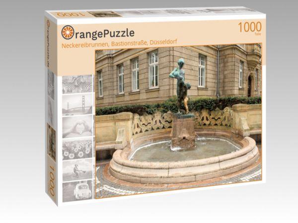 """Puzzle Motiv """"Neckereibrunnen, Bastionstraße, Düsseldorf"""" - Puzzle-Schachtel zu 1000 Teile Puzzle"""