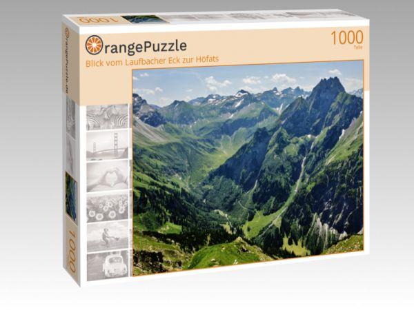 """Puzzle Motiv """"Blick vom Laufbacher Eck zur Höfats"""" - Puzzle-Schachtel zu 1000 Teile Puzzle"""