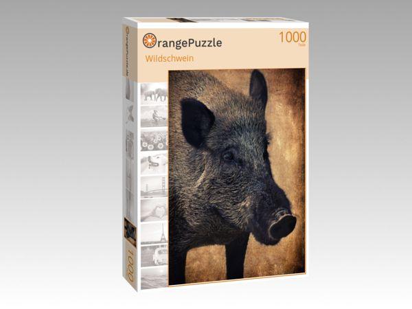 """Puzzle Motiv """"Wildschwein"""" - Puzzle-Schachtel zu 1000 Teile Puzzle"""