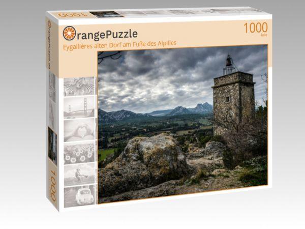 """Puzzle Motiv """"Eygallières alten Dorf am Fuße des Alpilles"""" - Puzzle-Schachtel zu 1000 Teile Puzzle"""