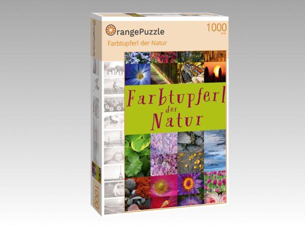 "Puzzle Motiv ""Farbtupferl der Natur"" - Puzzle-Schachtel zu 1000 Teile Puzzle"