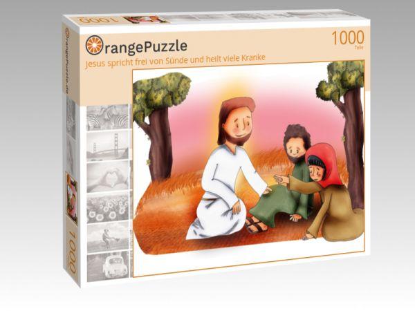 """Puzzle Motiv """"Jesus spricht frei von Sünde und heilt viele Kranke"""" - Puzzle-Schachtel zu 1000 Teile Puzzle"""