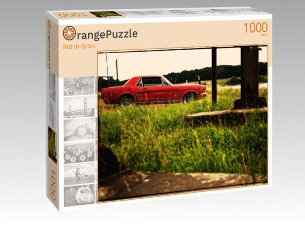 "Puzzle Motiv ""Rot in Grün"" - Puzzle-Schachtel zu 1000 Teile Puzzle"